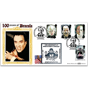 1997 Europa: Tales and Legends - Horror Stories BLCS - Bram Stoker's Dracula 100th Handstamp