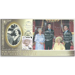 2000 HM The Queen Mother's 100th M/S BLCS 5000 - Doubled Jersey