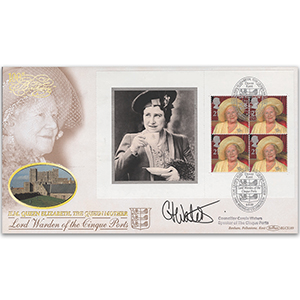 2000 Queen Mother's 100th Birthday PSB BLCS - 4 x 27p Pane - Signed by Councillor Carole Waters