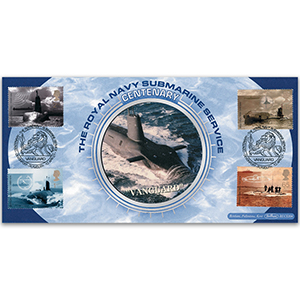 2001 Royal Navy Submarine Centenary BLCS - Doubled Alderney