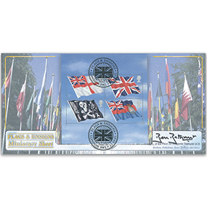 2001 Flags and Ensigns M/S BLCS - Signed by Sir Benjamin Bathurst GCB