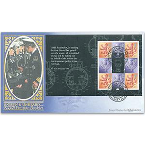 2001 Unseen & Unheard PSB Bklt 4 x 1st/4 x E Pane BLCS 5000 - Penzance