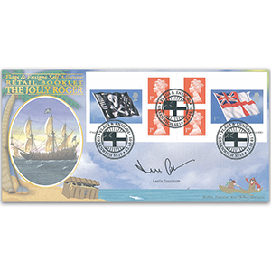 2001 Flags and Ensigns Booklet BLCS 2500 - Signed by Leslie Grantham