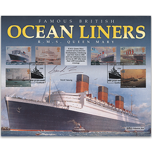 2004 Ocean Liners Stamps BLCS 5000 - Signed by Sandi Toksvig