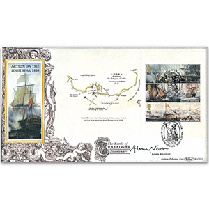 2005 Battle of Trafalgar PSB BLCS 5000 - 1st/42p/68p Pane - Signed by Adam Nicolson