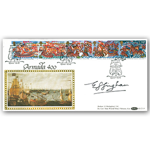 1988 Spanish Armada 400th - Signed by Lord Effingham