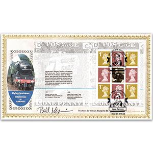2007 World of Invention PSB Pane (5p/1st gold) - Signed Sir William McAlpine