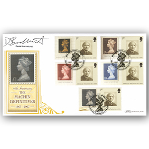 2007 Machin Definitives 40th Generic Smilers BLCS 5000 - Cover 4 - Signed by Daniel Brocklehurst