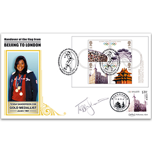 2008 Olympic Handover M/S BLCS 5000 - Signed by Tessa Sanderson CBE
