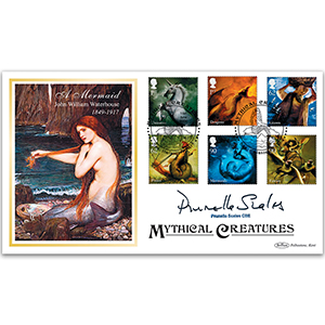 2009 Mythical Creatures Stamps BLCS 5000 - Signed by Prunella Scales