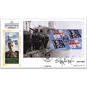 2009 Royal Navy Uniforms PSB BLCS - Admiral Sir John Fisher Pane - Signed by Robert Lindsay