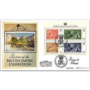 2010 Festival of Stamps Kings M/S BLCS 2500 - Signed by Rupert Mass