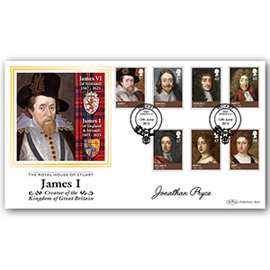 2010 House of Stuarts Stamps BLCS 2500 - Signed by Jonathan Pryce CBE