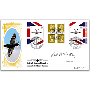 2010 British Design Classics Retail Booklet 4 (Spitfire) BLCS 5000 - Signed by Leo McKinstry