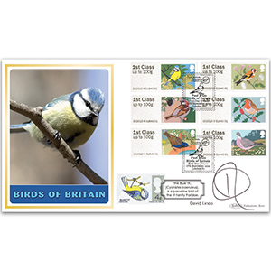 2010 Post & Go Birds of Britain BLCS 2500 - Signed by David Lindo
