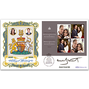 2011 Royal Wedding M/S BLCS 2500 - Signed by Alastair Stewart OBE