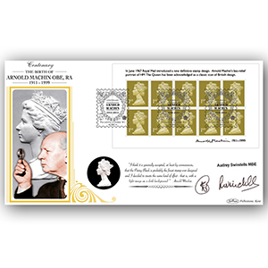 2011 Arnold Machin Centenary M/S BLCS 5000 - Signed by Audrey Swindells MBE