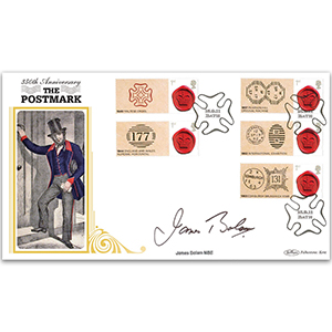 2011 350th Anniversary Postmark Generic Sht BLCS Cover 2 - Signed James Bolam