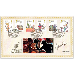 2012 Roald Dahl Stamps BLCS 2500 - Signed by James Fox OBE