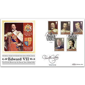 2012 House of Windsor Stamps BLCS 2500 - Signed by Timothy West CBE