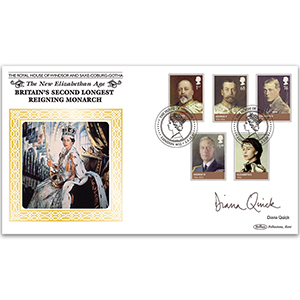 2012 House of Windsor Stamps BLCS5000 Signed Diana Quick