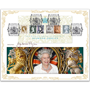 2012 HM Queen's Diamond Jubilee M/S BLCS 5000 - Signed by Barbara Flynn