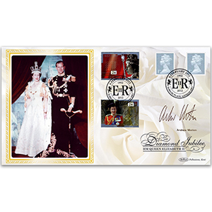 2012 Queen's Diamond Jubilee 1st from Booklet BLCS 2500 - Signed by Andrew Morton