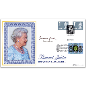 2012 Large Letter Diamond Jubilee Definitives BLCS 5000 - Signed by Susanna Brown