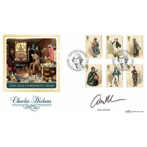 2012 Charles Dickens Stamps BLCS 2500 - Signed by Gina McKee