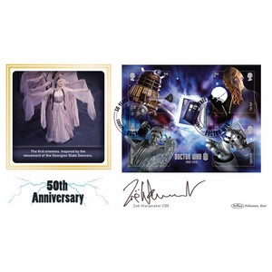 2013 Doctor Who M/S BLCS 2500 - Signed Z Wanamaker CBE