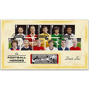 2013 Football Heroes Stamps BLCS 2500 - Signed by Denis Law