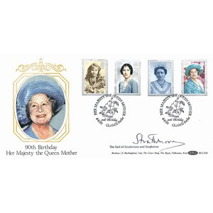 1990 The Queen Mother's 90th BLCS - Signed by the Earl of Strathmore and Kinghorne