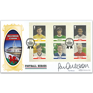 2013 Football Heroes PSB Cover 2 (P3) F/Ball x 6 Banks - Signed by Paul Merson