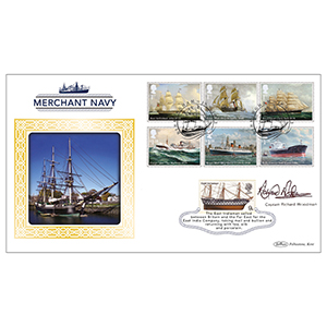 2013 Merchant Navy Stamps BLCS 2500 - Signed by Captain Richard Woodman