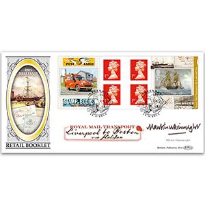 2013 Royal Mail Transport Retail Booklet BLCS 5000 - Signed Martin Wainwright
