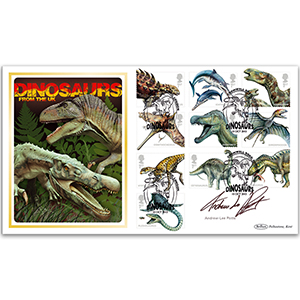2013 Dinosaur Stamps BLCS 5000 - Signed Andrew-Lee Potts