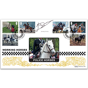 2014 Working Horses Stamps BLCS 2500 - Signed Jeremy Irvine