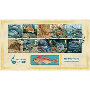 2014 Sustainable Fish Stamps BLCS 5000