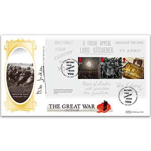 2014 The Great War PSB BLCS Cover 2 - 3 x 1.47 Pane - Signed by General Sir Mike Jackson