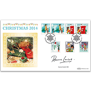 2014 Christmas Stamps BLCS 2500 - Signed by Ronnie Corbett CBE