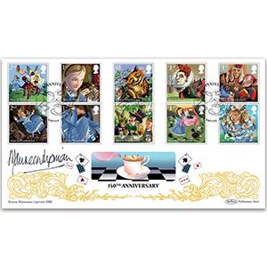 2015 Alice in Wonderland Stamps BLCS500 Signed Dame Maureen Lipman CBE