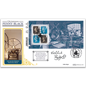 175th Anniv Penny Black Barcoded M/S Ltd Ed 1000 - Signed by Kellie Bright
