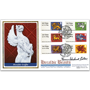 2015 Post & Go Heraldic Beasts BLCS 5000 - Signed by Thomas Woodcock, Garter Principal King of Arms
