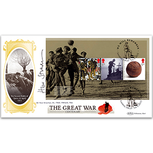 2015 WWI PSB Cover 1 P3 (3 x £1.52) - Signed Prof. Sir Hew Strachan DL, FRSE, FRHistS, FBA