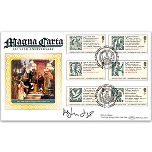 2015 Magna Carta 800th Anniversary BLCS 5000 - Signed by Melvyn Bragg, The Lord Bragg