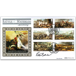 2015 Battle of Waterloo Stamps BLCS 2500 - Signed by Peter Bowles