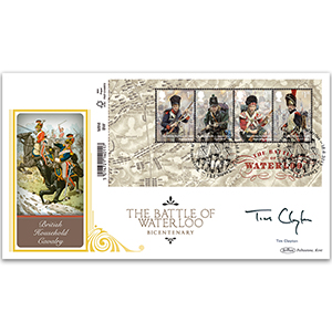 2015 Battle of Waterloo Barcoded M/S Ltd Ed 1000 BLCS 5000 - Signed by Tim Clayton