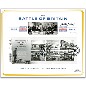 2015 Battle of Britain M/S Barcoded Ltd Ed 1000 - Signed by Patrick Bishop