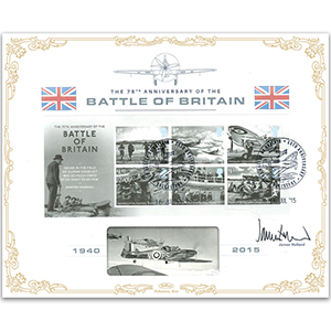 2015 Battle of Britain M/S BLCS 5000 - Signed by James Holland