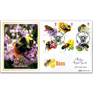 2015 Bees Stamps BLCS5000 Signed Martin Hughes-Games